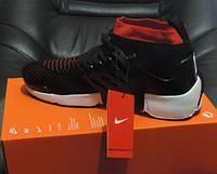 Кроссовки мужские Nike Air Presto Flyknit Ultra. Кроссовки летние черные с красным.