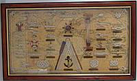 Картина морские узлы под стеклом 7343, 73 см * 43 см, Одесса