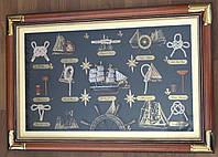 Картина морские узлы под стеклом XG034, 60 см * 40 см