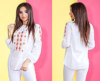 Женская блузка с вышивкой / 2 цвета  арт 4974-510