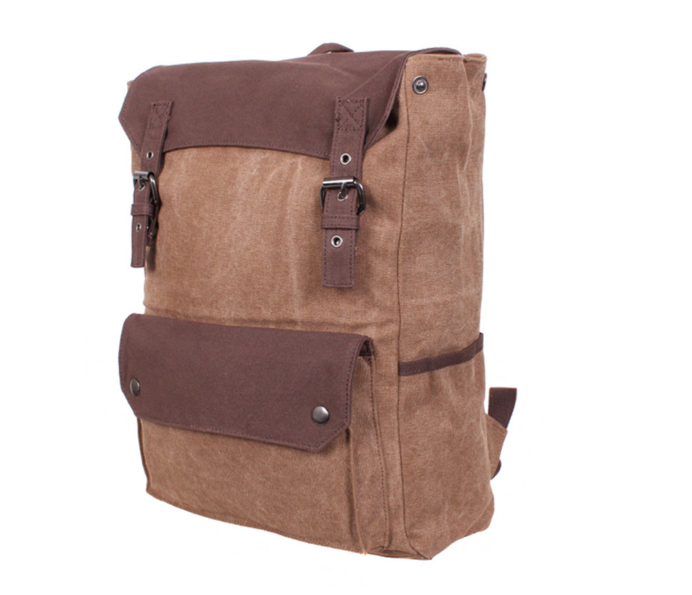 Рюкзак текстильный городской 6075-2COFFEE коричневый