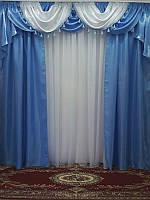 Комплект готовые шторы с ламбрекеном Angelina