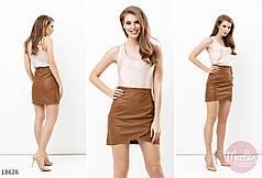 Симпатичная юбка из эко-кожи