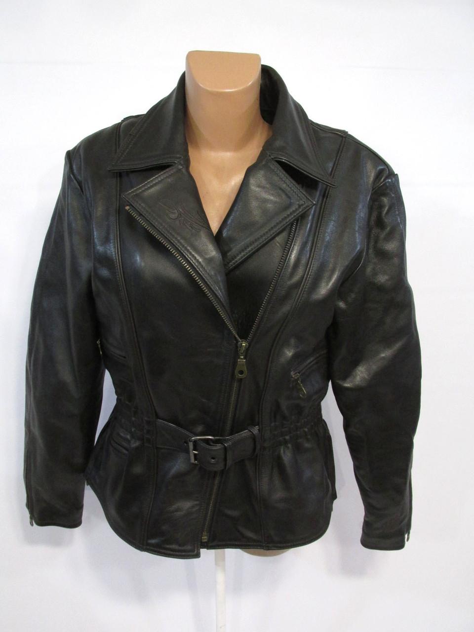 Куртка кожаная High Way, Мотокуртка, с защитой. 44 (L, 16), Качество,