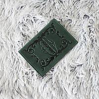 """Обложка для паспорта из натуральной кожи """"crazy horse"""" зеленая"""