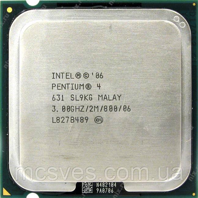 Процессор Intel Pentium 4 HT 631 (3.00GHz/2Mb/s775) б/у s775, tray, Malay