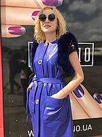 Женский кожаный жилет, фото 1