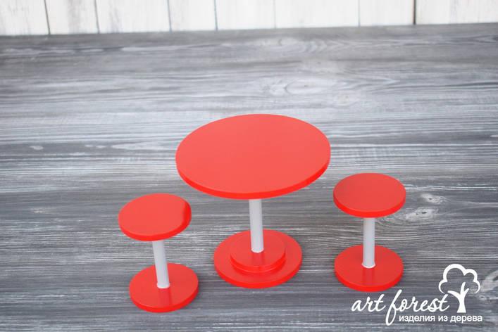 """Кукольная мебель """"Барный стол и стулья"""", фото 2"""