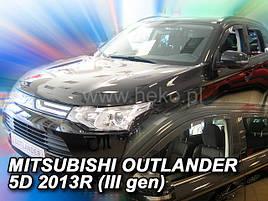 Дефлекторы окон (ветровики)  MITSUBISHI Outlander  2012r->(HEKO)