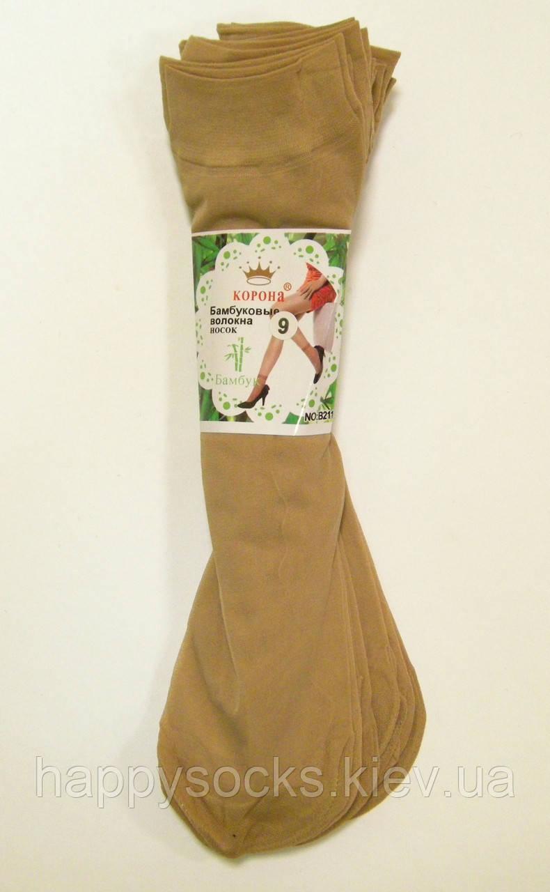 Капроновые носки женские телесного цвета
