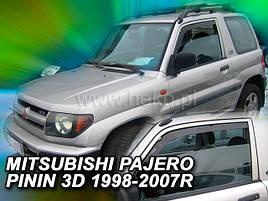 Дефлекторы окон (ветровики)  MITSUBISHI Pajero 3/4 3d 1998->(HEKO)