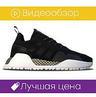 Мужские кроссовки Adidas AF Atric Black White (реплика)