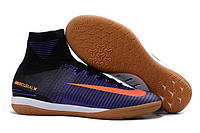 Футзалки (бампы) Nike MercurialX Proximo IC Black/Total Crimson/Hyper Grape, фото 1