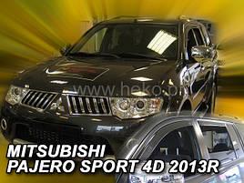 Дефлекторы окон (ветровики)   MITSUBISHI Pajero Sport 5d 2013r->(HEKO)