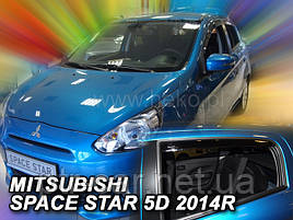 Дефлекторы окон (ветровики)  MITSUBISHI SPACE STAR  2014r->(HEKO)