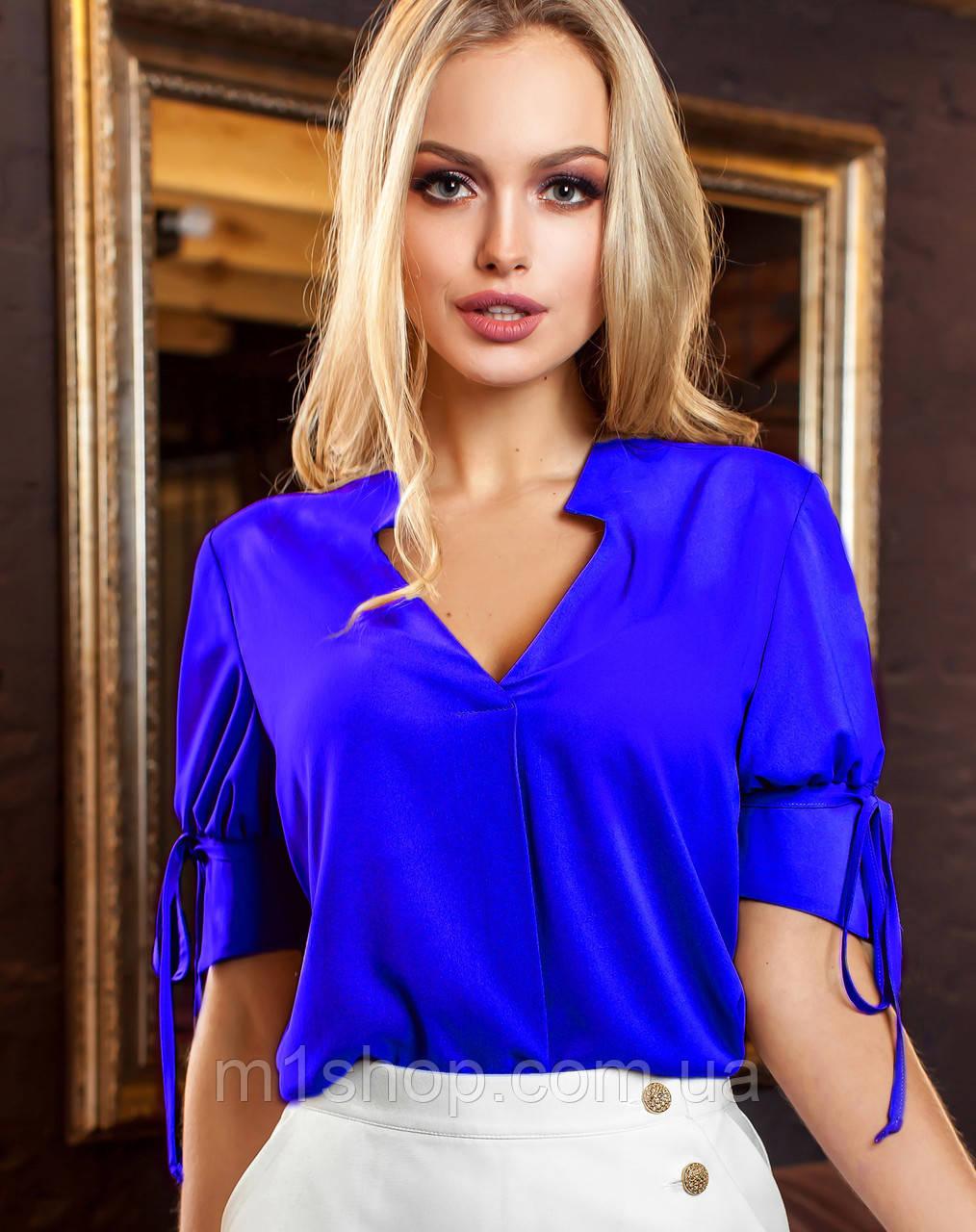 Женская блузка с завязками на рукавах (Кармен jd)