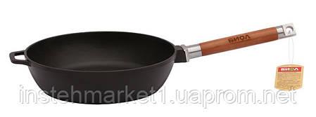 Сковорода БИОЛ Классик 0324 (диаметр 240 мм) чугунная, съёмная деревянная ручка, фото 2