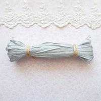 Металлизированная сутажная лента для вышивки, Индия, ширина 5 мм - серебро