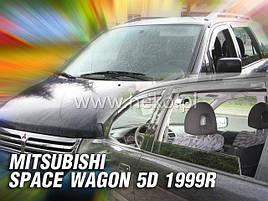 Дефлекторы окон (ветровики)  MITSUBISHI SPACE WAGON 5D 1999 – 2005r(HEKO)