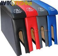 Бар  Підлокітник  ВАЗ  2115 ( вишивкою)  Синій (кож.зам), фото 1