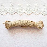 Металлизированная сутажная лента для вышивки, Индия, ширина 5 мм - розовое золото