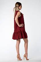 """Платье летнее """"Молли"""" -цвет бордовый, фото 3"""