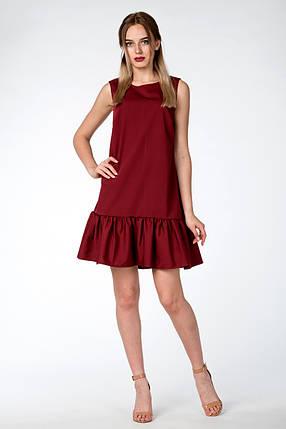 """Платье летнее """"Молли"""" -цвет бордовый, фото 2"""