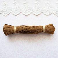 Металлизированная сутажная лента для вышивки, Индия, ширина 5 мм - античное золото
