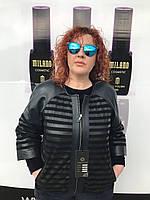 Женская кожаная весенняя куртка большого размера, фото 1