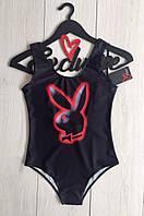 Модный цельный женский купальник Playboy,сдельный женский купальник с рисунком