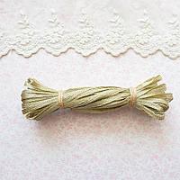 Металлизированная сутажная лента для вышивки, Индия, ширина 5 мм - золото иней