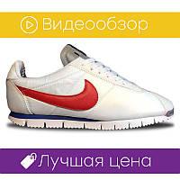 Мужские кроссовки Nike Cortez White Red  . ⠀⠀⠀⠀⠀⠀⠀⠀⠀⠀⠀⠀⠀⠀⠀⠀⠀⠀(реплика)