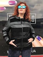 Женская весенняя кожаная куртка, фото 1
