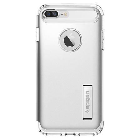 Чехол-накладка Spigen Slim Armor для Apple iPhone 8 Plus/7 Plus серебристый, фото 2
