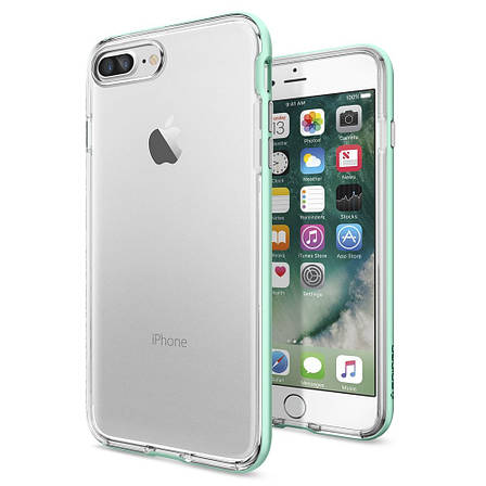 Чехол-накладка Spigen Neo Hybrid Crystal для Apple iPhone 7 Plus мятный, фото 2