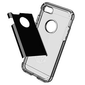 Чехол-накладка Spigen Tough Armor для Apple iPhone 7 чёрный, глянцевый, фото 2