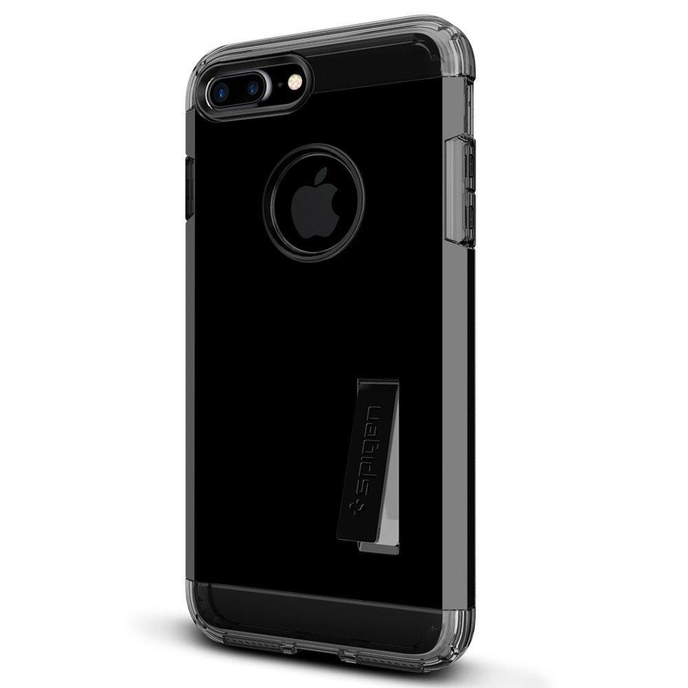 Чехол-накладка Spigen Tough Armor для Apple iPhone 7 Plus чёрный, глянцевый