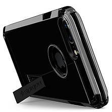 Чехол-накладка Spigen Tough Armor для Apple iPhone 7 Plus чёрный, глянцевый, фото 3