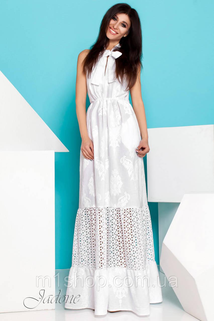 4c214c7a6176 Женское белое хлопковое платье макси (Клозини jd) - « m1shop » женская  одежда