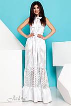 0d4677dda785 Женское белое хлопковое платье макси (Клозини jd) купить недорого ...