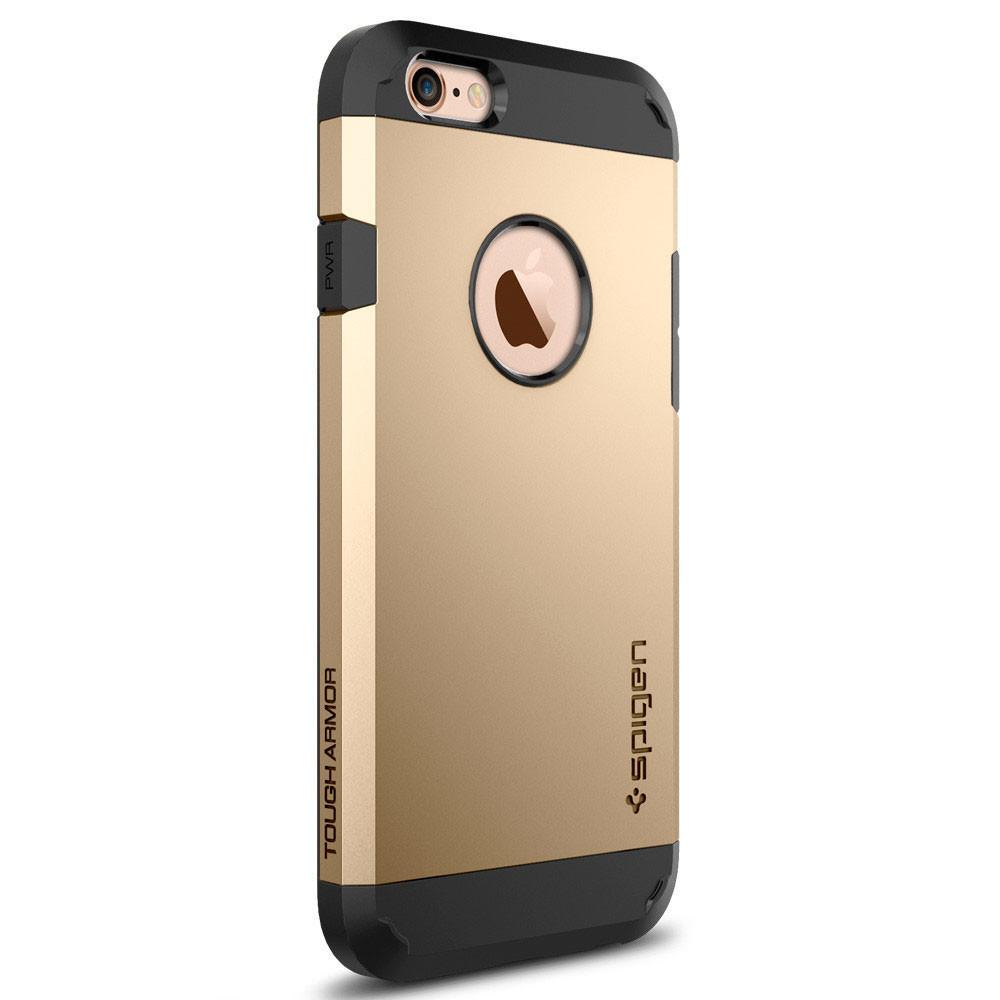 Чехол-накладка Spigen Tough Armor для Apple iPhone 6S/6 золотистый