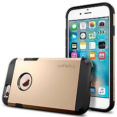Чехол-накладка Spigen Tough Armor для Apple iPhone 6S/6 золотистый, фото 2