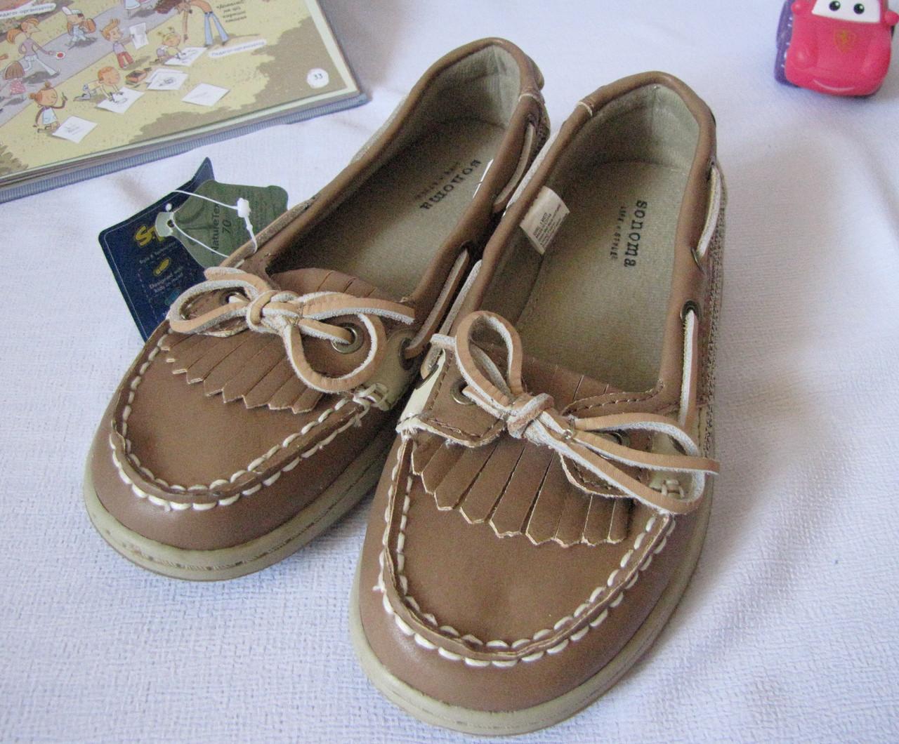 Туфли для девочки весна лето Sonoma размер 32 коричневые 08010