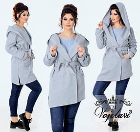 Женское пальто без подкладки (Арт. KL080/Gray)