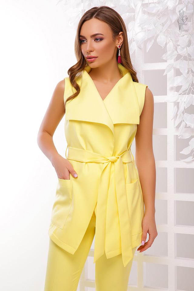 Желтый цвет Стильного женского жакета Париж