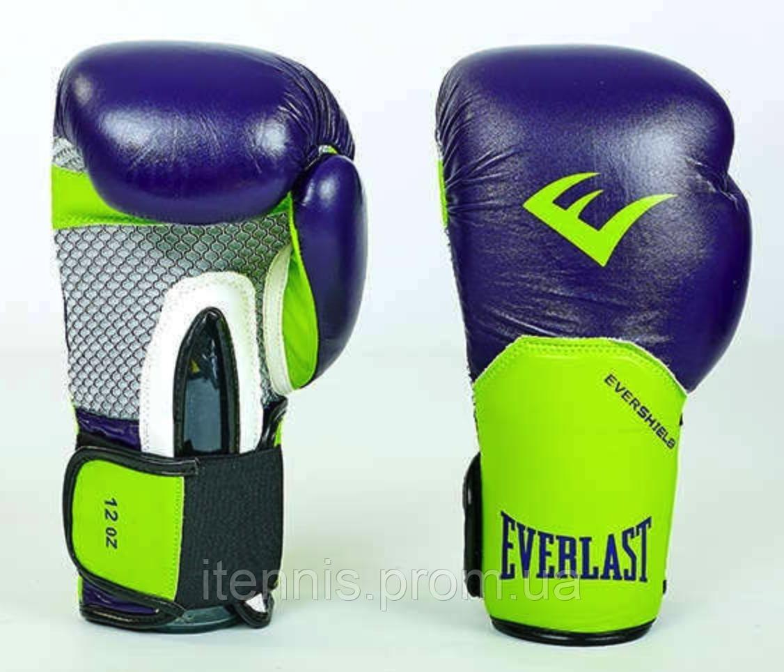 Перчатки боксерские EVERLAST на липучке КОЖА