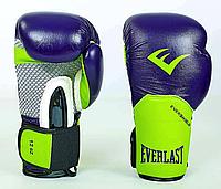 Перчатки боксерские EVERLAST на липучке КОЖА, фото 1