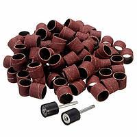 Нождачні барабани 12,5 мм - 50 шт для гравер, борманинка, дремел Dremel (зерно 80,120,150,180, 240,320, 600)