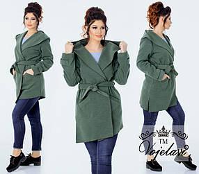 Женское пальто без подкладки (Арт. KL080/Green)