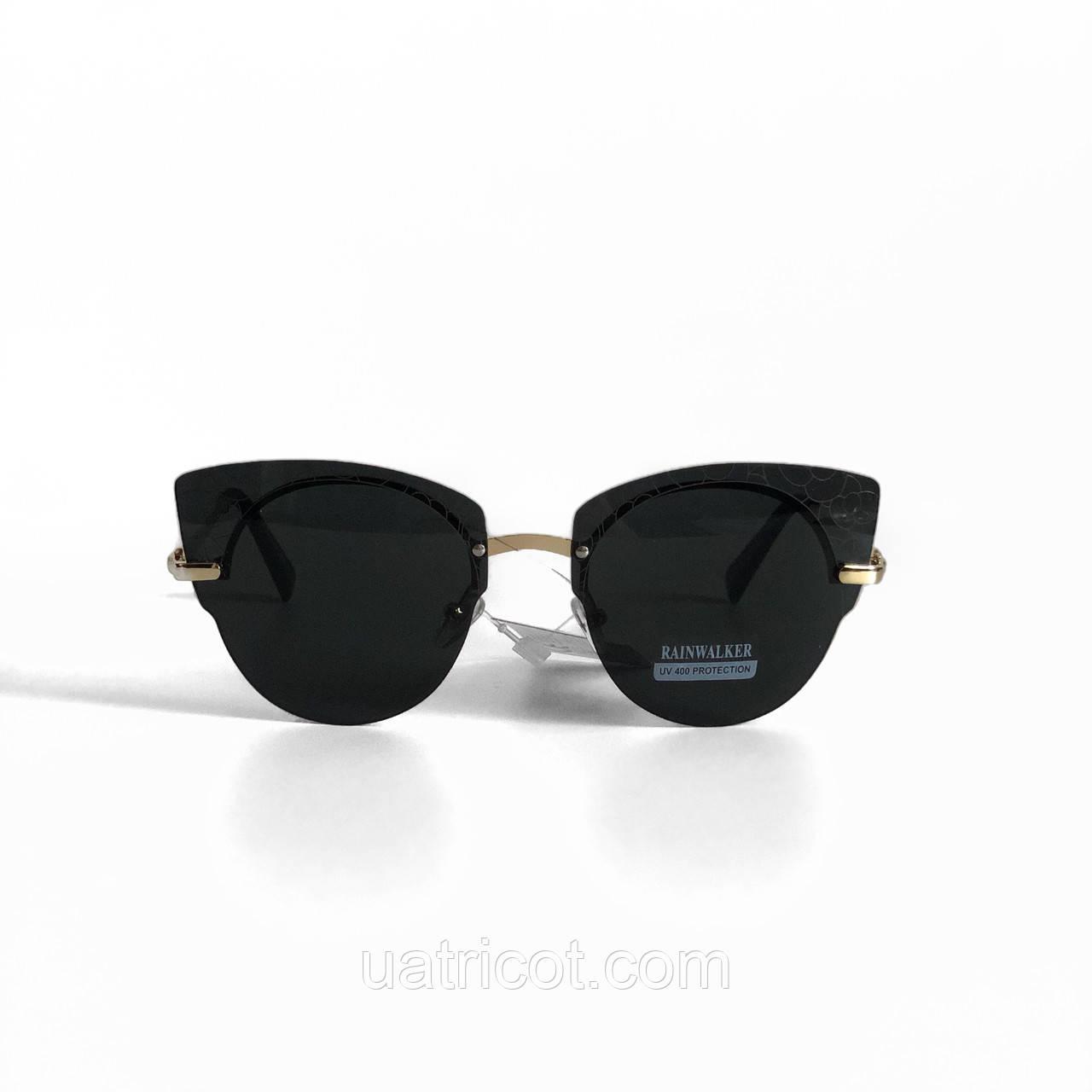 Женские солнцезащитные очки Rainwalker с чёрными линзами